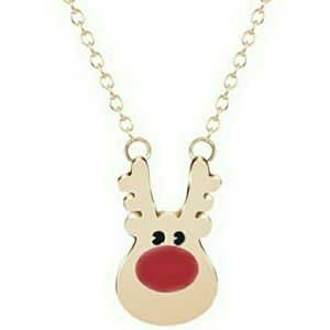 🎅 Rudoulph Necklace- gold